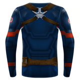 Avenger Endgame Captain America Rescue Armor 3D Printed Superhero Cosplay Fitness Compression T-shirts - Anime Hero Shop