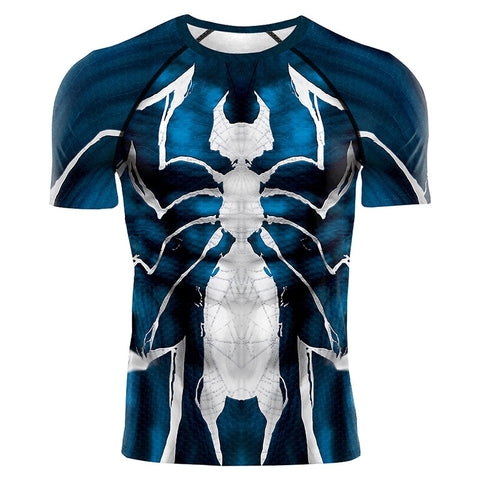 Image of 2020 Cosplay Venom Black Spidermen 3D Print Compression Gym T-Shirts - Anime Hero Shop