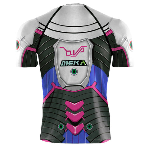 Image of 2019 Hot Sale Game Hero D.Va Suits T-shirt Cosplay 3D Printed T-Shirts - Anime Hero Shop