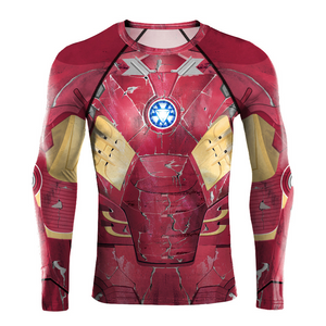 2019 Ironman 2 Avengers 3D printed Compression Shirts Cosplay Costume - Anime Hero Shop