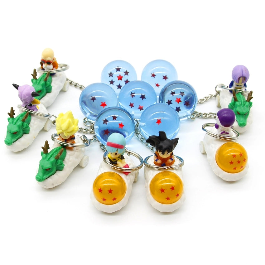 DBZ Stars Crystal Ball Keyrings Pendant