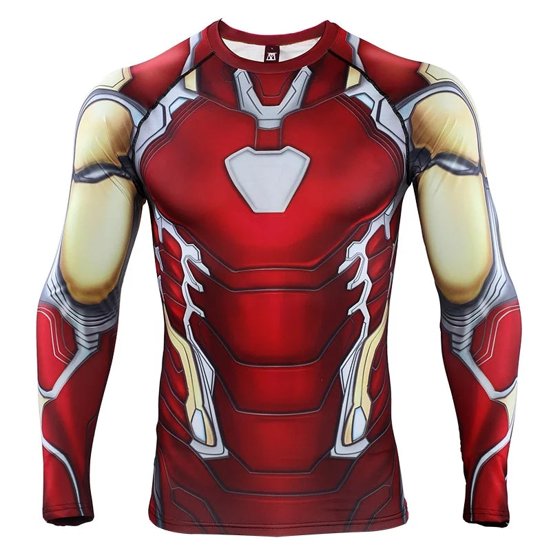 284e5885 2019 Avengers 4 EndGame Iron Man Mark 85 Compression T-shirts & Pants for  Men. Tap to expand