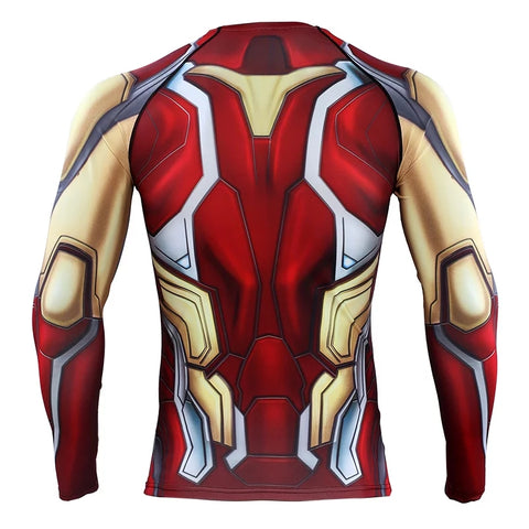 2019 Avengers 4 EndGame Iron Man Mark 85 Compression T-shirts & Pants for Men