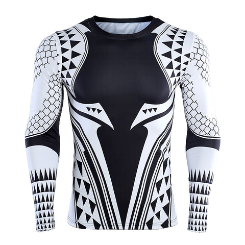 Image of DC Aquaman Compression Long Sleeve Shirt 2 - Anime Hero Shop