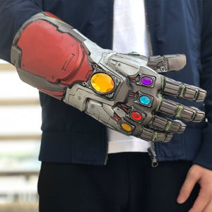 Avengers 4 Endgame Iron Man Infinity Gauntlet Hulk Cosplay Arm Latex Gloves - Anime Hero Shop