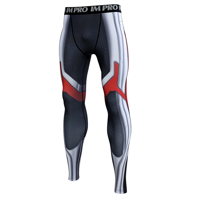 Avengers 4 Endgame Quantum Realm Compression Tights Pants for Men - Anime Hero Shop