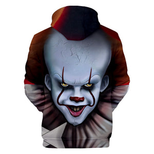 Children Boys Girls Pennywise Clown Cosplay Costumes Sweatshirt 3D Print Hoodies - Anime Hero Shop