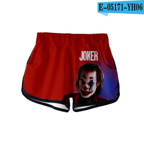 Image of 2019 Joker 3D print Summer Women Casual Cute girl Hot Sale Sexy Shorts Clothes - Anime Hero Shop