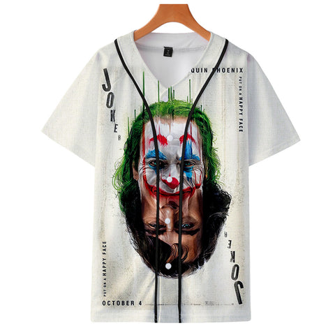Image of Movie Joker 2019 Arthur Fleck print baseball uniform Men/Women Casual jacket Clothes - Anime Hero Shop