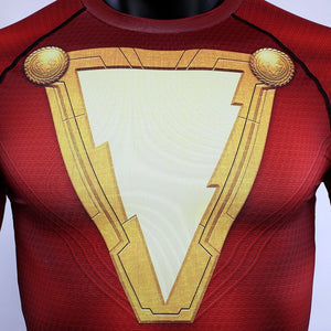 Shazam New 2019 DC Movie  Short Sleeve Compression Shirts - Anime Hero Shop