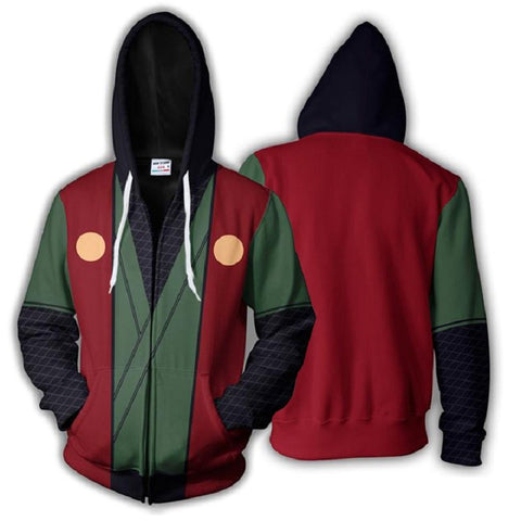 Image of Jiraiya Zip Up Hoodie - Anime Hero Shop
