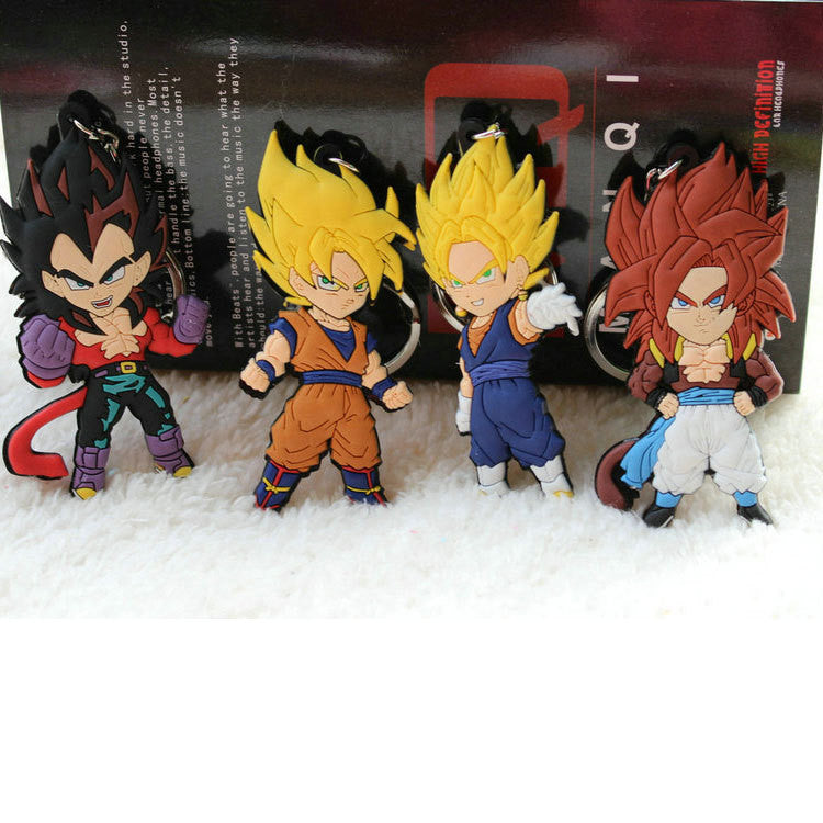 DBZ Keychain Collection Silicone PVC KEYCHAIN - Anime Hero Shop