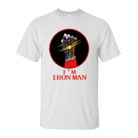 Image of I'M Iron Man Tony Stark Infinity Gauntlet T-Shirts Avengers Endgame Movie - Anime Hero Shop