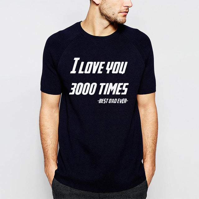 abe0fe8733 Avengers Endgame Iron Man Tony Stark Cotton T Shirt I Love You 3000 ...