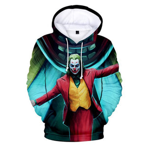 Kids Boys Girls Joker 2019 Joaquin Phoenix Arthur Fleck Cosplay Costume 3D Hoodie Autumn Winter - Anime Hero Shop