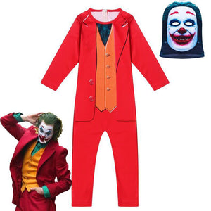 Kids Movie 2019 Joker Arthur Fleck Cosplay Costume Fancy Carnival Halloween Costumes jumpsuit for Boys Girls - Anime Hero Shop