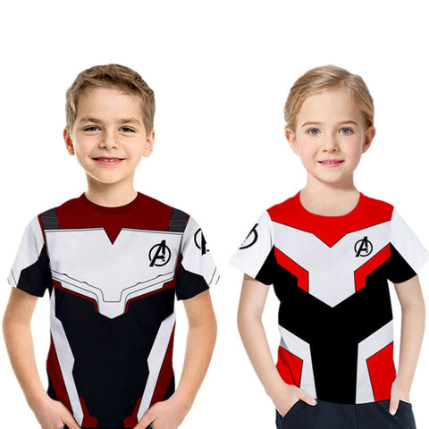 Image of Kids T-shirt Avengers Endgame Quantum Realm Cosplay Costume Tops Boys Girls - Anime Hero Shop