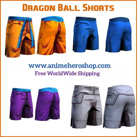 DBZ Shorts Fitness Quick Dry Shorts Tight - Anime Hero Shop