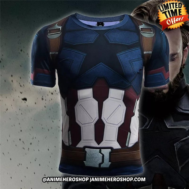 Captain America Infinity War Short Sleeve T'shirt