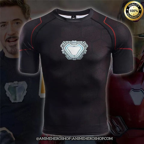 Image of Tony Stark Infinity War Short Sleeve T'shirt - Anime Hero Shop