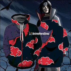 Akatsuki Red Cloud Hoodie - Anime Hero Shop
