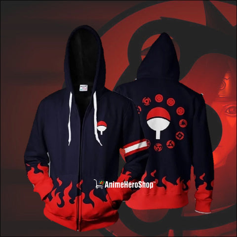 Uchiha Clan Zip Up Hoodie - Anime Hero Shop
