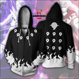 Naruto Uchiha Madara Six Paths Zip Up Hoodie - Anime Hero Shop
