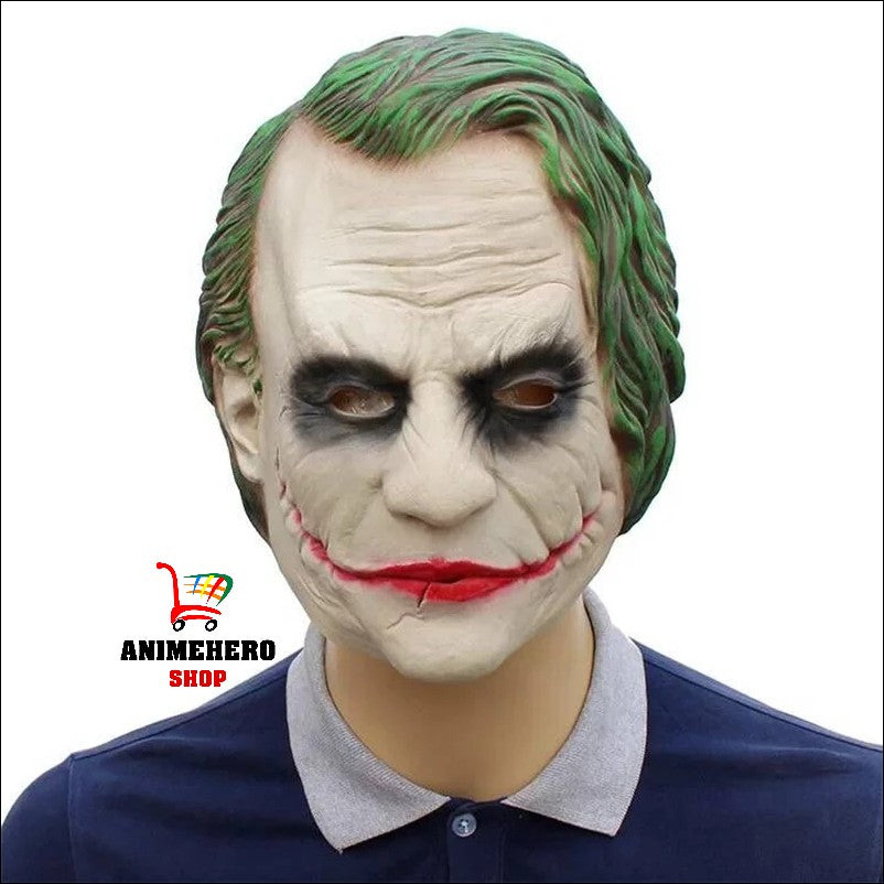 Dark Knight Movie Joker Latex Cosplay Mask Full Face