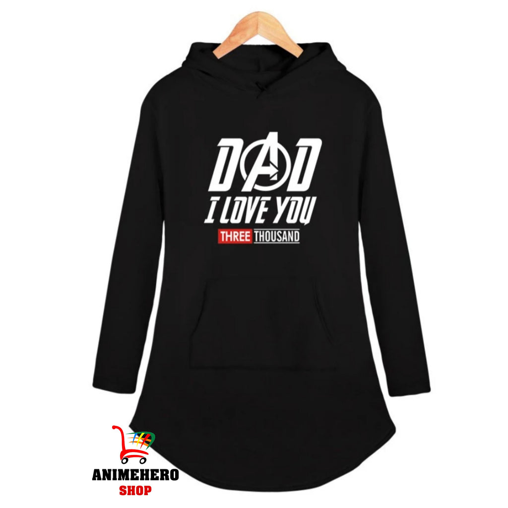 Avengers Endgame Hooded Dress Sexy Casual I Love You 3000 Sexy Dress for Party