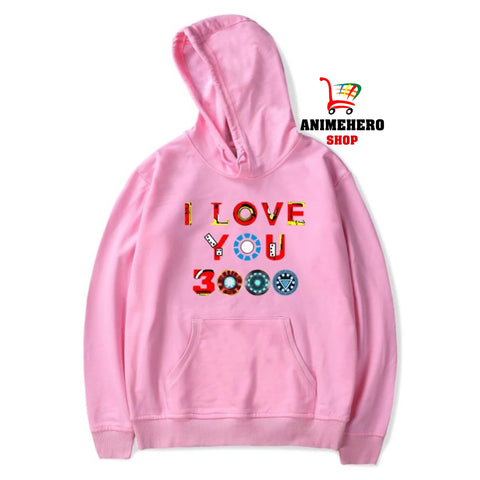 Image of 2019 Avengers Endgame Hoodie I Love You 3000 Unisex Sweatshirt Autumn Winter - Anime Hero Shop