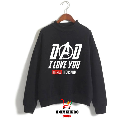 Image of Avengers Endgame Sweatshirt Kawaii Dad I Love You 3000 Women Pullover - Anime Hero Shop