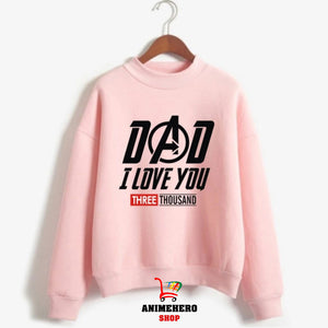 Avengers Endgame Sweatshirt Kawaii Dad I Love You 3000 Women Pullover - Anime Hero Shop