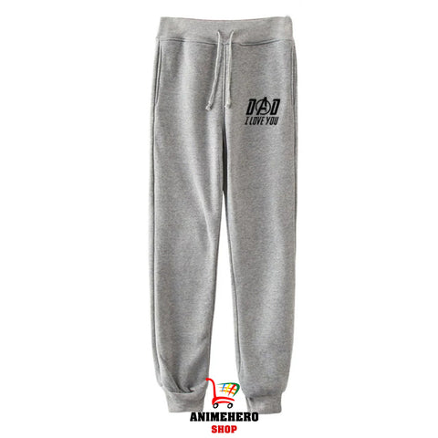 Image of Avengers Endgame Dad I Love You 3000 Sweatpants Trousers Casual Pants - Anime Hero Shop