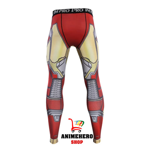 Image of Iron Man Mark 42 Avengers Compression T-shirts & Pants - Anime Hero Shop