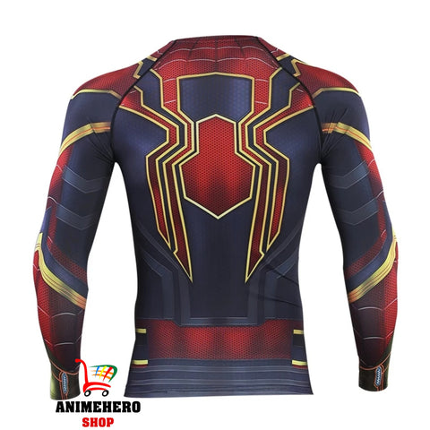 Spider Man Cosplay Avengers Endgame Movie Compression T-shirts & Pants