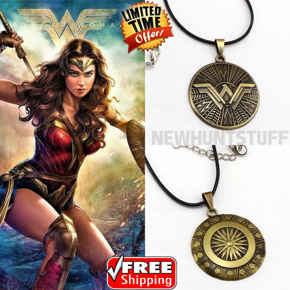 Justice League Wonder Woman Necklace Round Shield Necklace