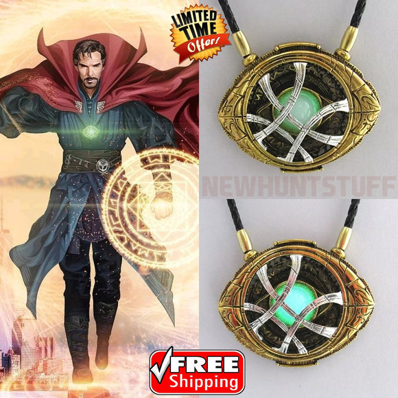 Doctor Strange Pendant Eye of Agamotto GLOW IN THE DARK Necklace 7 CM