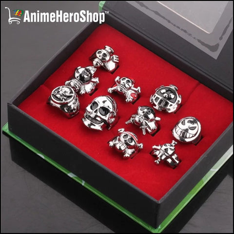 Image of (10pcs/set) One Piece Unisex Cosplay Ring Set - Anime Hero Shop