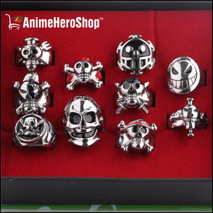 (10pcs/set) One Piece Unisex Cosplay Ring Set - Anime Hero Shop