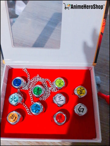 10pcs/Set  Naruto Rings Akatsuki Rings
