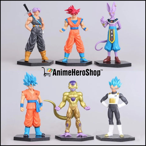 Image of 6PCS/SET Goku Vegeta Trunks Beerus Frieza - Anime Hero Shop