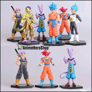 6PCS/SET Goku Vegeta Trunks Beerus Frieza - Anime Hero Shop