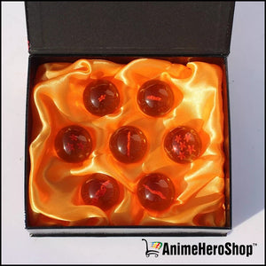 DBZ 3.5CM DragonBall Figure 7 Stars Crystal Ball (Yellow & Blue) - Anime Hero Shop
