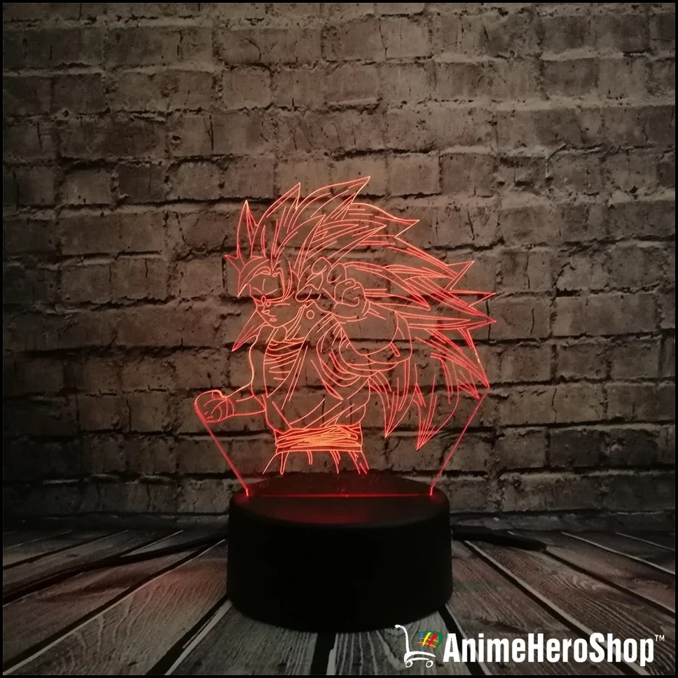 Goku SSJ3 3D Table Lamp 7 Color Night Light