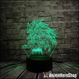 Goku SSJ3 3D Table Lamp 7 Color Night Light - Anime Hero Shop