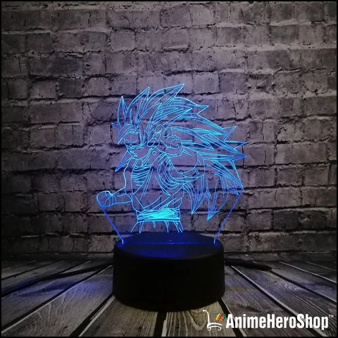 Image of Goku SSJ3 3D Table Lamp 7 Color Night Light