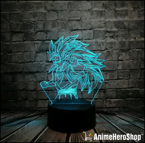 Image of Goku SSJ3 3D Table Lamp 7 Color Night Light - Anime Hero Shop
