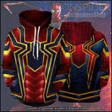 Infinity War Iron Spider Man 3D jacket costume Unisex hoodie