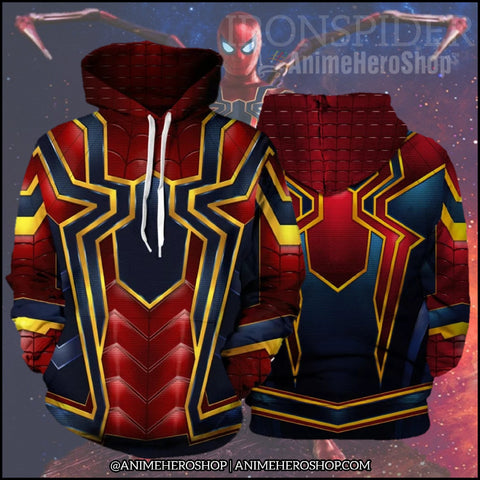 Image of Infinity War Iron Spider 3D jacket costume Unisex hoodie