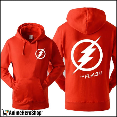 Image of The Flash Men Autumn Winter Sweatshirt Casual Print With Hat - Anime Hero Shop